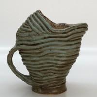 """Ceramic Pitcher 1978 9"""" x 8"""" x 5"""""""