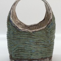 "Ceramic Basket 1978 10"" x 7"" x 5"""