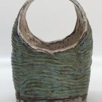 """Ceramic Basket 1978 10"""" x 7"""" x 5"""""""