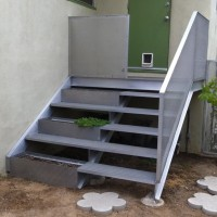 Deck/Stairs with Planter Boxes 2008 aluminum and fiberglass