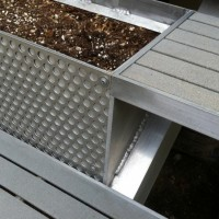 Deck/Stairs with Planter Boxes 2008 (detail) aluminum and fiberglass