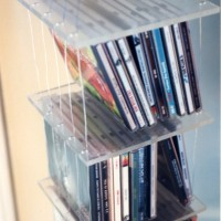 Suspended CD Shelves (detail)1991