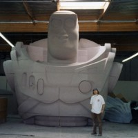 Giant Buzz Light Year, urethane foam.