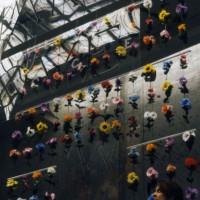 TRIUMPHAL ARCH 1993 (detail) plastic, artificial flowers, astroturf 13' x 12' x 9'